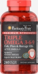 Maximum Strength Triple Omega 3-6-9 240 кап