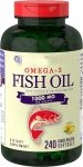 Piping Rock Omega-3 Fish Oil Lemon Flavor