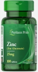 Puritan's Pride  Zinc Gluconate 25 mg