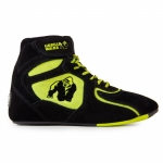 Кроссовки Chicago High Tops Black/Neon Lime